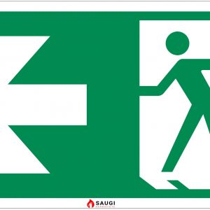 Evakuacinis išėjimas (durys) į kairę (fotoliuminescencinis)